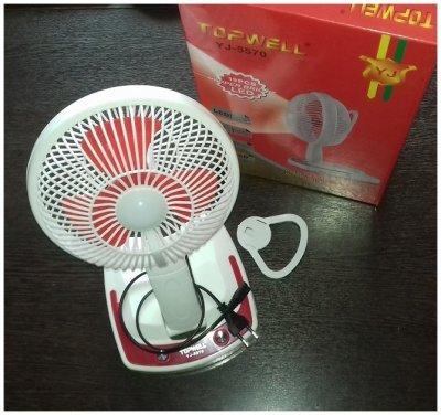 Настольный вентилятор с LED подсветкой
