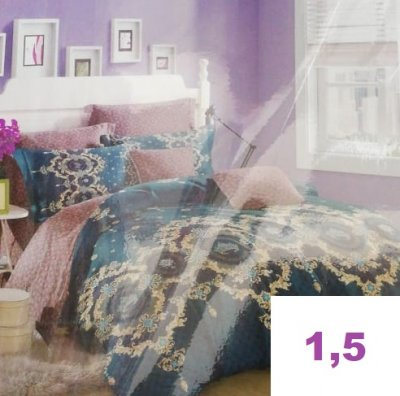 Комплект постельного белья.ПОПЛИН! (1,5-спальный)