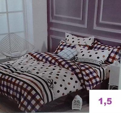 Комплект постельного белья.САТИН ЛЮКС! (1,5-спальный)
