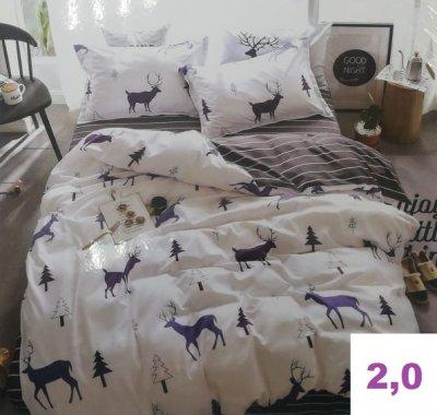 Комплект постельного белья.Простыня на резинке.(2,0-спальный)