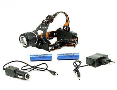 Мощный налобный фонарь с двумя светодиодами