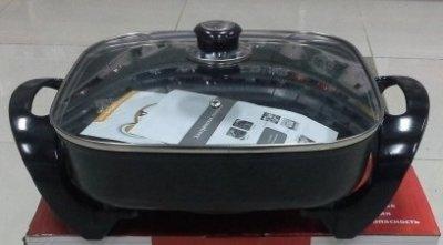 Электро-сковорода с антипригарным покрытием.КВАДРАТНАЯ.