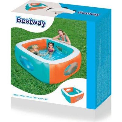 Детский надувной бассейн Bestway 51132 С ОКОШКАМИ