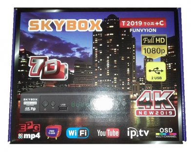 Цифровая приставка SkyBox. Wi-Fi, Youtube